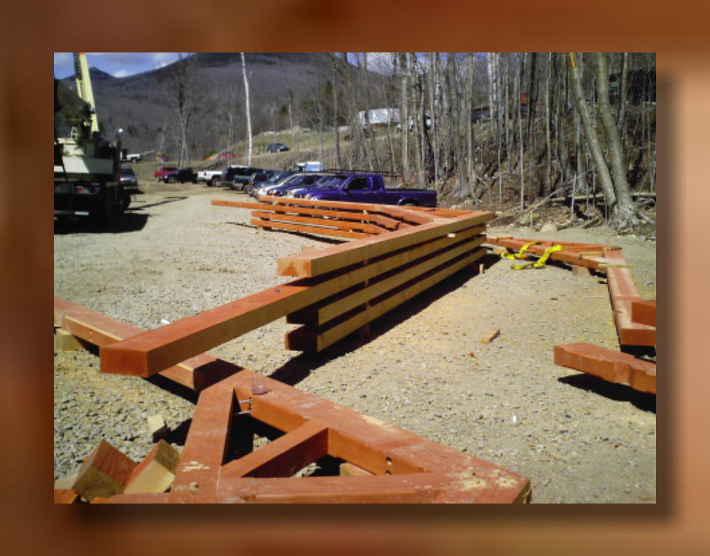 Loon Mountain New Hampshire Exterior Timber Trusses
