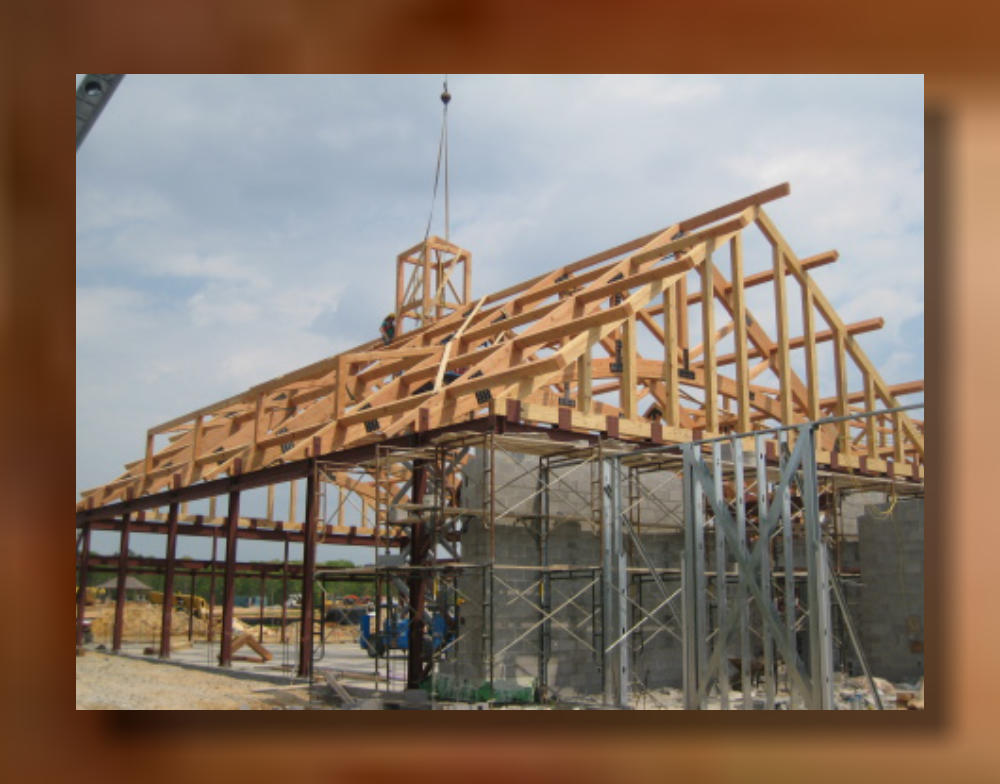 Richmond Va Timber Glu Lam Roof System Commercial
